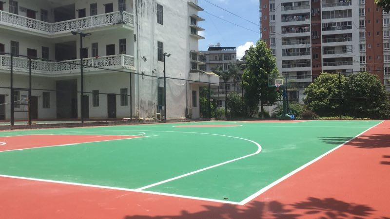 硅PU球场地坪-硅pu材料当然选广州市恒辉体育设施