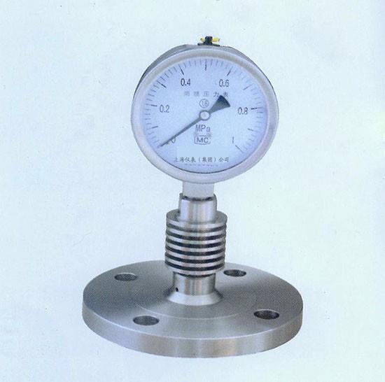 隔膜压力表|购买隔膜压力表选上仪|Y-M系列隔膜压力表结构