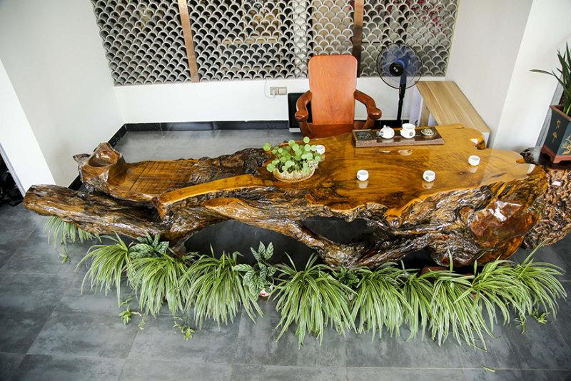 质量好的根雕茶台供销-金丝楠木实木根雕茶台