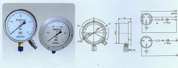 压力表|上海上仪压力表口碑|YTT-150型差动远传压力表