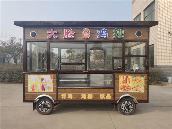 奶茶鸡排车加盟店 大脸鸡排车加盟 流动餐车多少钱