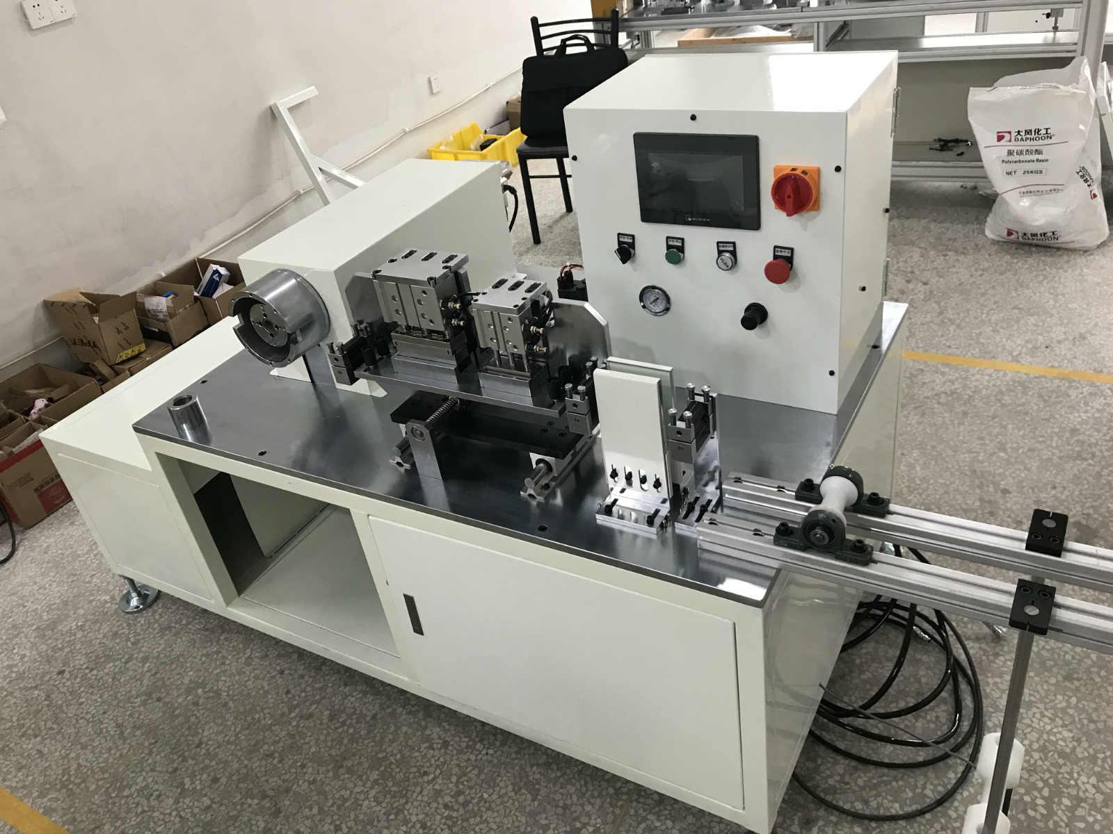 宁波自动化设备-自动倒角机-热电偶感应针组装机