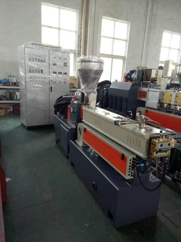 佛山双螺杆片材机PLA聚乳酸造粒机_南京聚力优良的输送带拉条切粒机