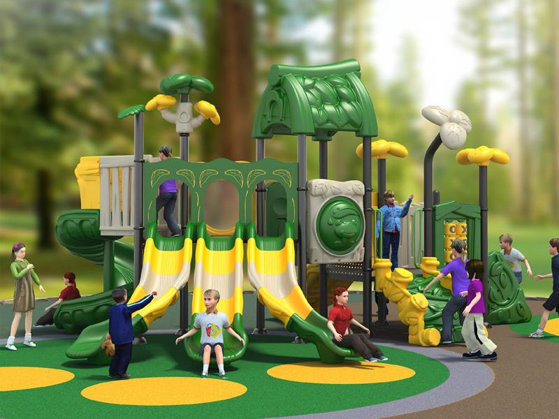 专业的组合滑梯_沈阳金色童年游乐玩具-美食小镇大型滑梯专业品质