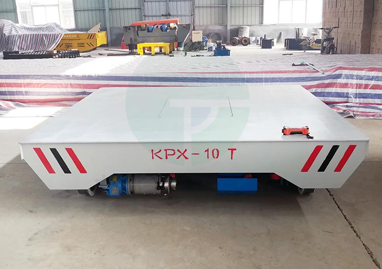 汽车配件转运轨道平车 10吨工厂电动转运地爬车