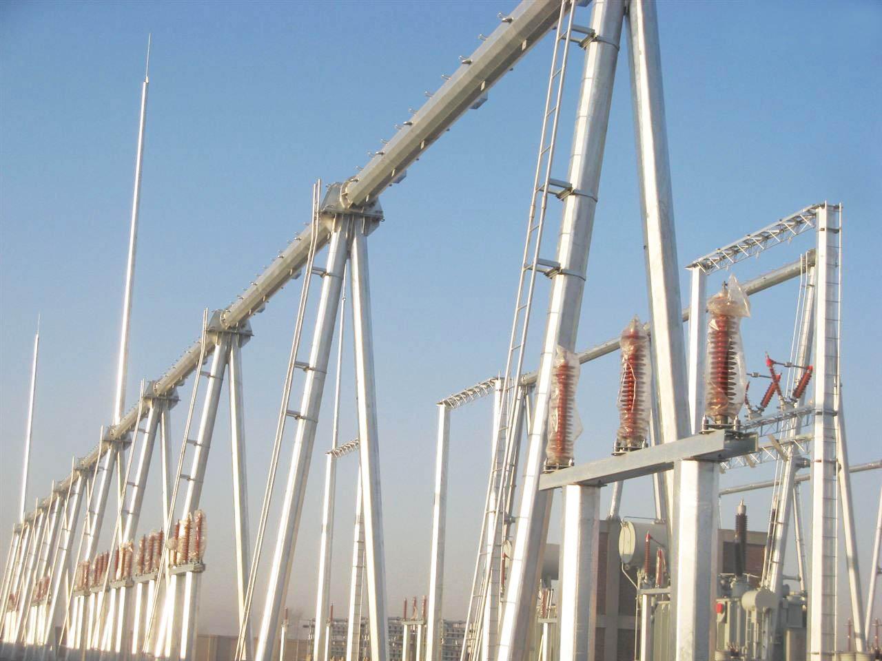 電廠龍門架|口碑好的河北變電站構架公司