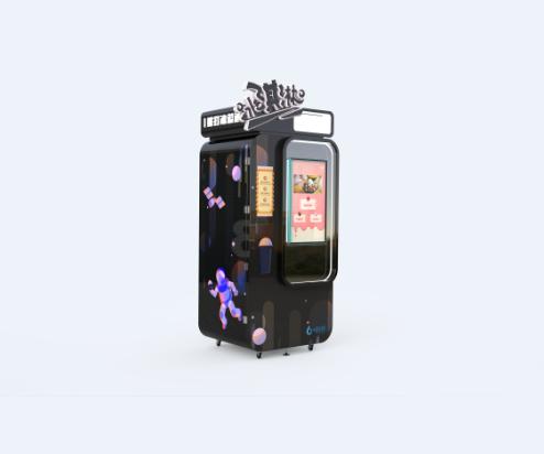 机器猫冰激凌机无人售卖机超值?#29992;?#21344;地仅仅0.8㎡