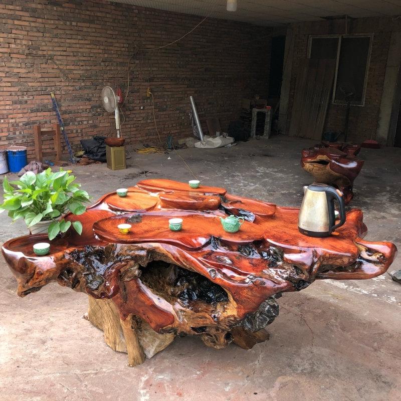 厂家直销根雕茶台供销-华丽的花梨木实木茶台