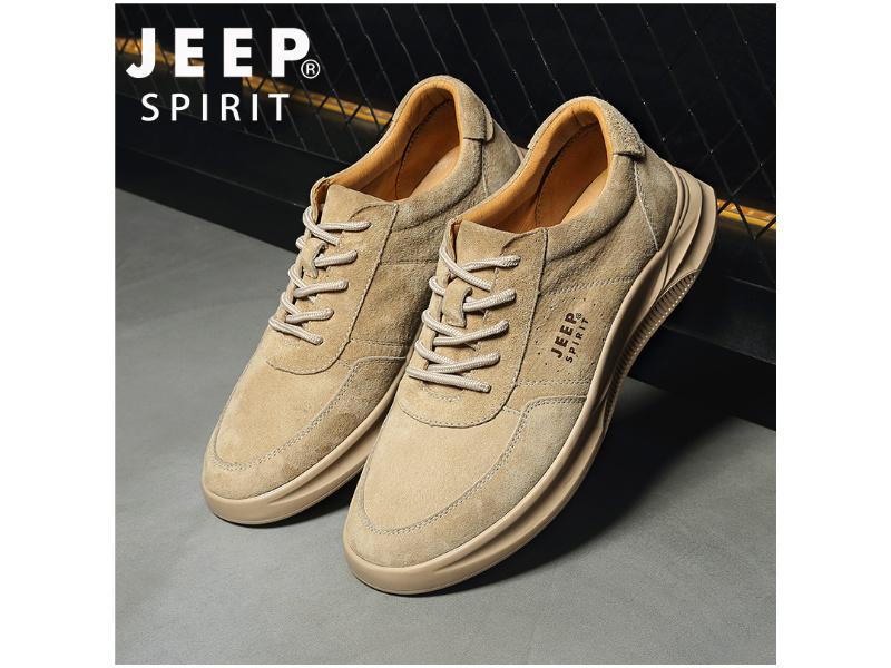jeep男鞋英倫工裝鞋時尚板鞋