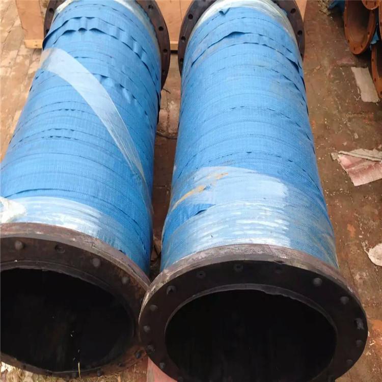 廠家大口徑瓦斯抽放橡膠管 耐負壓法蘭橡膠管