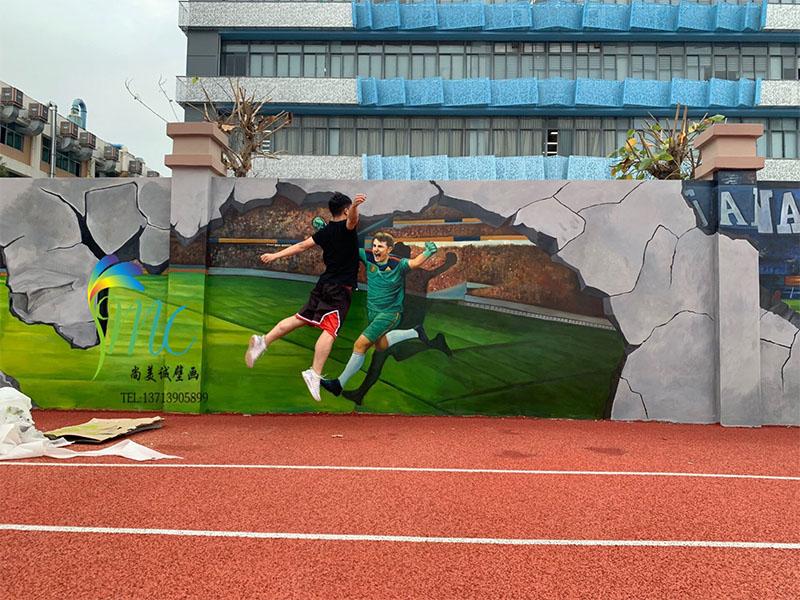 足球场设计-出售精致的篮球场壁画
