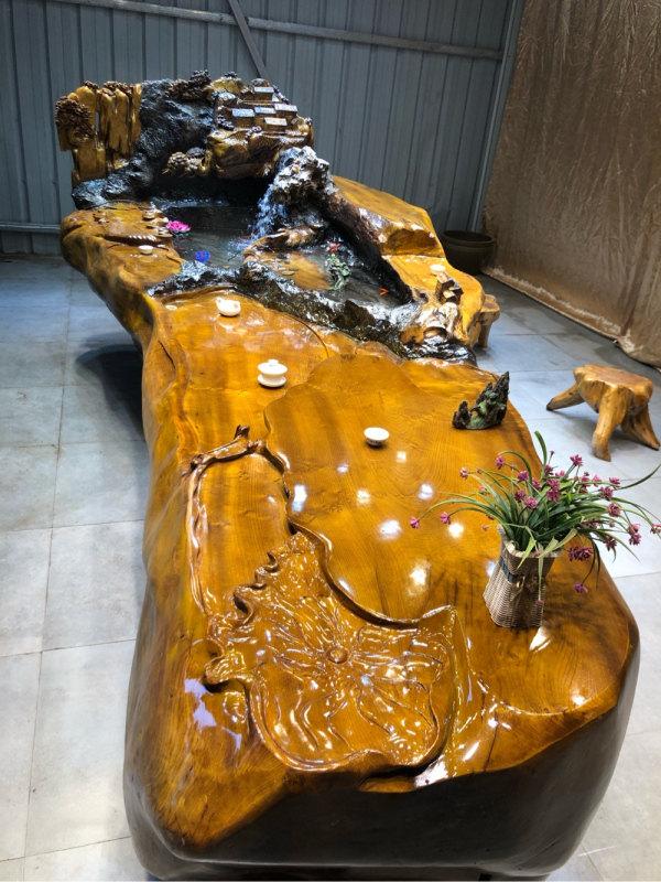 厂家直销根雕茶台供销-具有价值的金丝楠木实木茶台