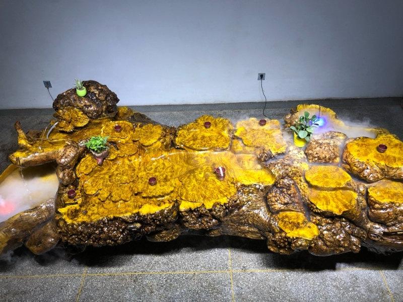 厂家直销根雕茶台供销-具有价值的黄金樟木实木茶台