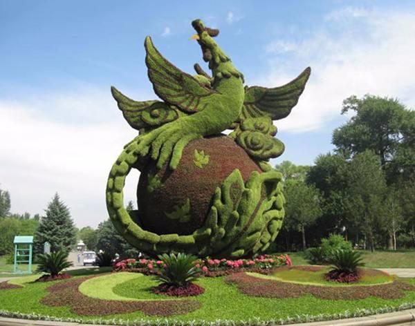 吳中仿真動物卡通造型施工-手法細膩的青海景觀綠雕出售