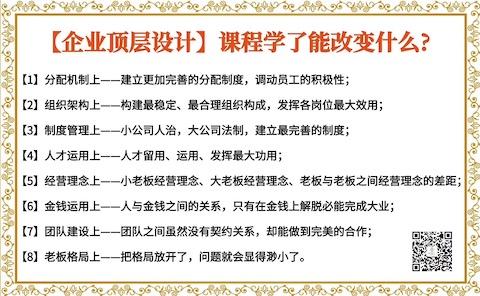 重庆企业顶层设计多少钱 信誉好的企业管理培训课程上哪找