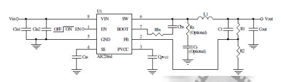 AIC2864各种电源总线调节器可编程软启动时间电源芯片