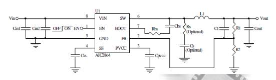 AIC2864恒接通时间控制的同步降压变换器现货直销