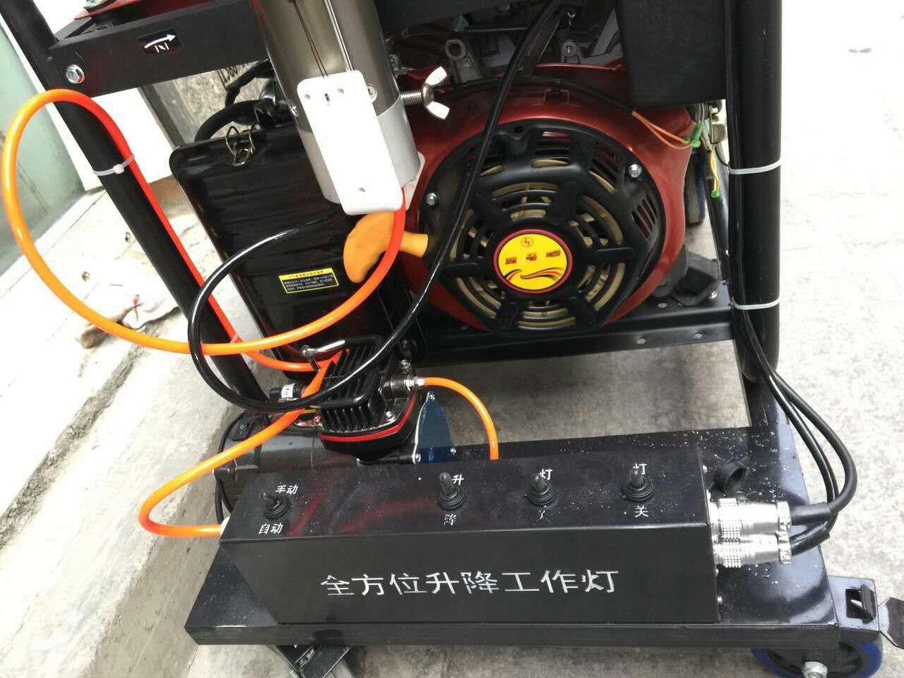 黔榕星_贵州厂家6kw移动汽油发电机带探照大灯照明设备