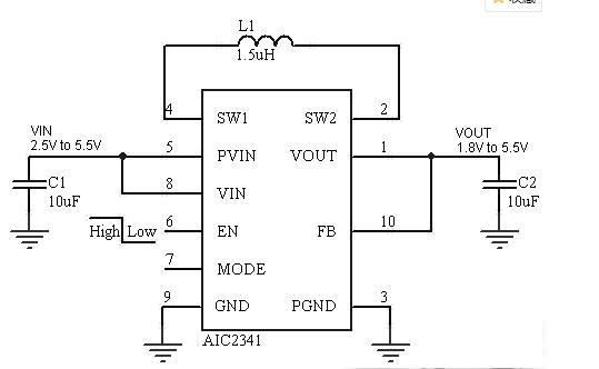 AIC2341具有两个内部同步整流器高效率哪家好