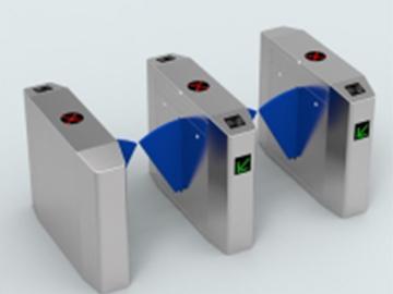 新F18指纹门禁机,视频监控,智能桥式翼闸