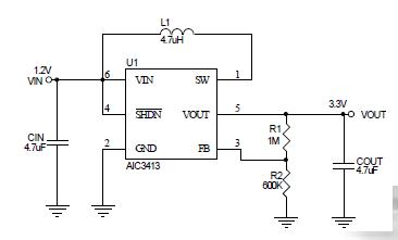 惠州市AIC3413应用便携式设备ic电源