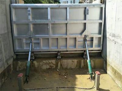 底横轴液压翻板闸门 钢结构液压翻板闸门组成结构