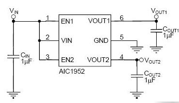 AIC1952双输出线性调节器大量现货供应