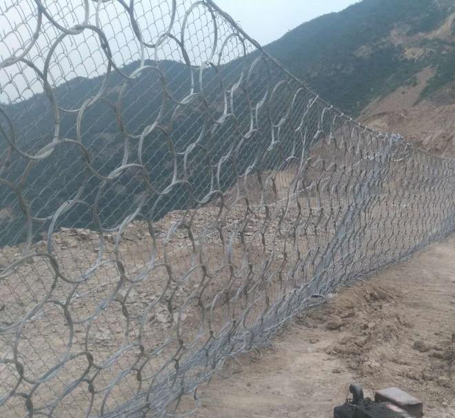 边坡滚石拦截被动网_15131856266国标柔性被动防护网
