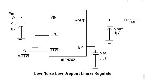 AIC1742高纹波抑制和低噪声品牌电子元器件