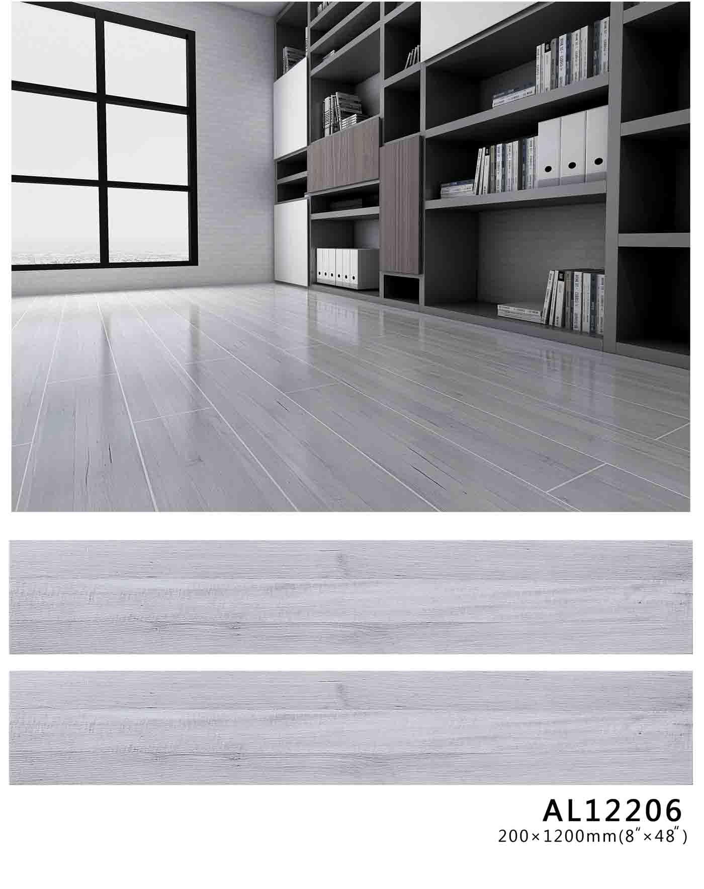 灰木纹釉面木纹地板砖定制-玉金山木纹砖-四川木纹地砖定制A