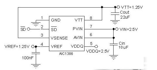 杭州AIC1386内置限流源和汇模式高精度满载输出电压电源