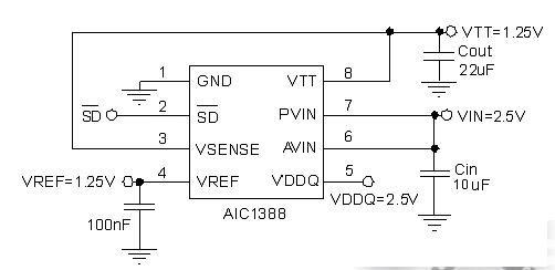东莞市AIC1388提供出色的负载调节线性稳压器ic芯片