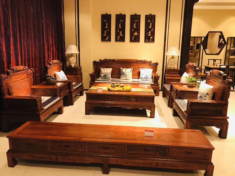 兰州红木家具,西宁红木茶几,酒泉红木沙发定制