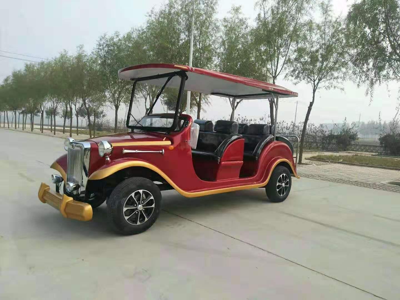 电动四轮旅游景区观光车厂家直销价格-广西看房车观光车复古老爷车