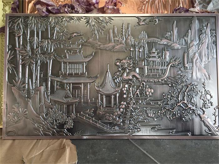 欧式铜艺屏风生产厂家|超值的金属工艺壁画直销