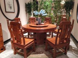紅木圓餐桌-怎么買優良紅木餐桌椅呢