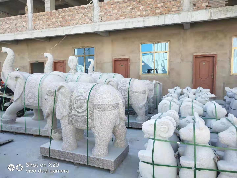 大象石雕供應-技藝精巧的福建大象石雕