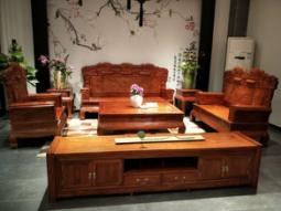紅木沙發五件套-東莞質量硬的紅木沙發-認準東莞市南城傳天匠紅木家具