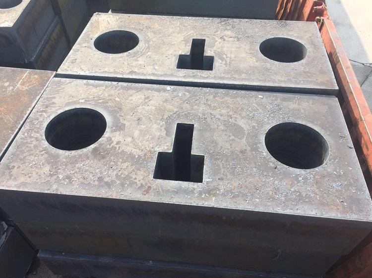 特厚钢板切割下料,钢板数控切割图形件,钢板切割配重块