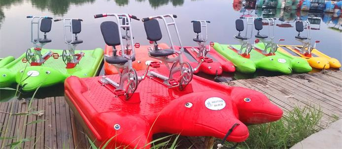 电动船-新品水上三轮车就在海德龙游乐设备
