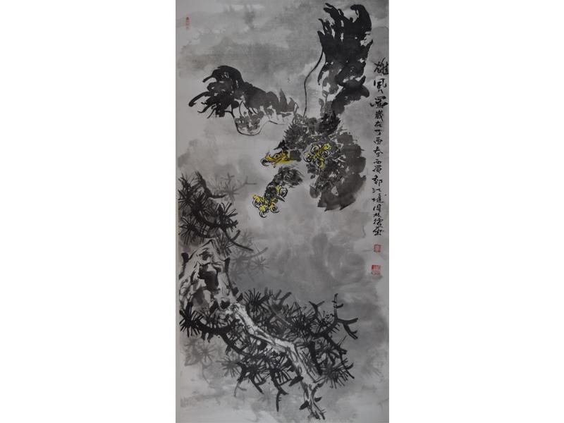 传统国风山水画作品-出售别致的山水画作品