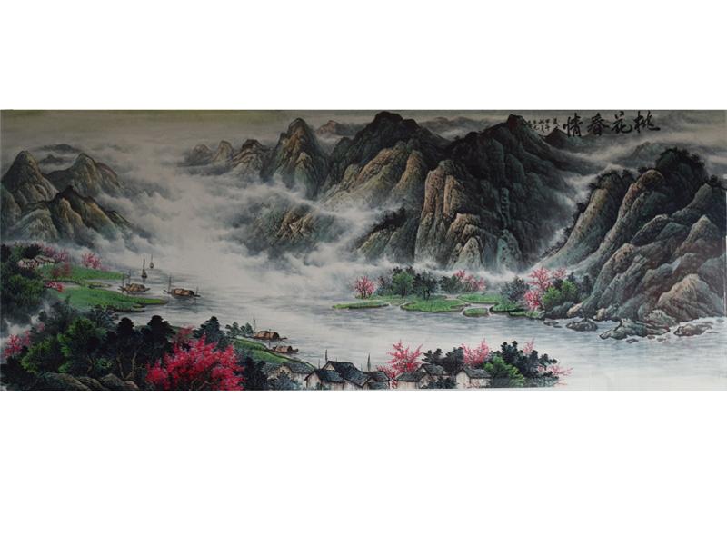 传统国风水墨画展览-哪里有专门卖山水画作品的地方