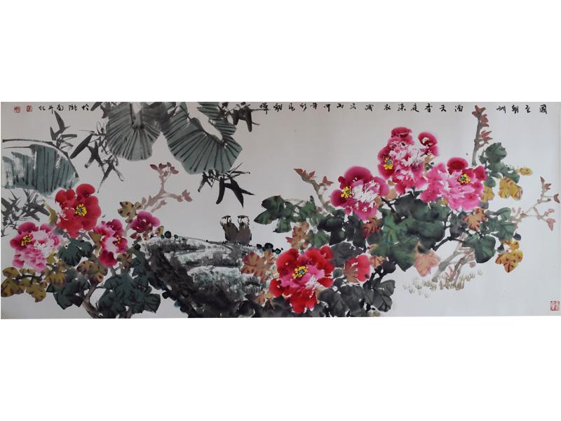 國風山水字畫展覽畫廊-肇慶精湛的山水畫作品出售
