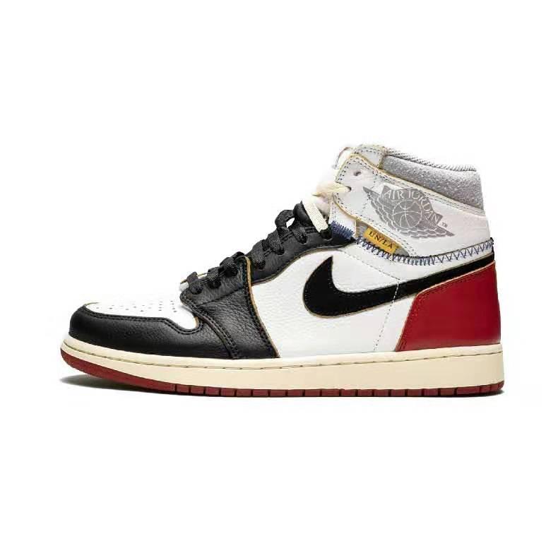 福建莆田耐克乔丹aj1联名限定黑脚趾拼接运动鞋厂家一件代发