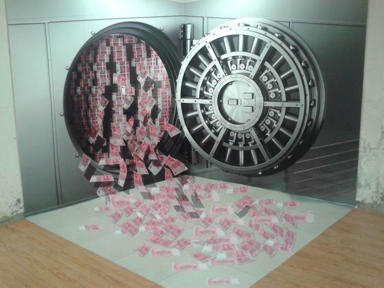广东3D画设计费用-江门广州3D画设计立体墙画制作