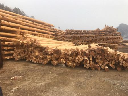 抚顺防腐木杆哪家好?来找清原合众木器加工厂