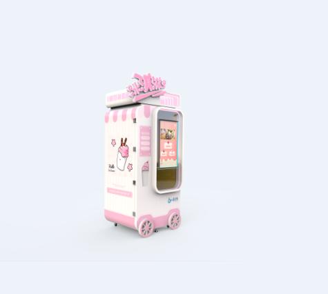 6+科技冰激凌自动售货机厂家直销自主创业新选择