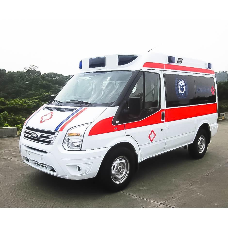 線型流暢高版本【福特—全順V348短軸高頂柴油監護型救護車】