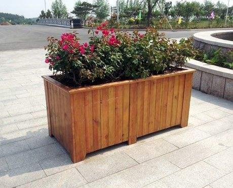 濰坊防腐木花箱-想買好的防腐木花箱就到偉一花卉苗木