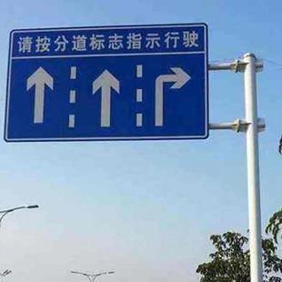 福建指示牌標志桿|鄭州哪家生產的標志桿好